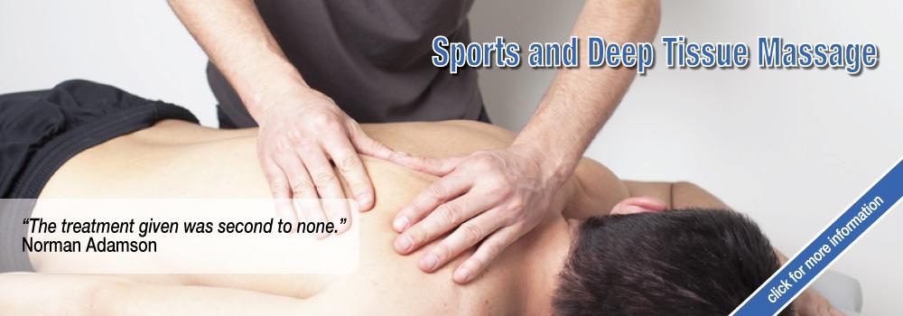 Sports & Deep Tissue Massage from ThreeSpires